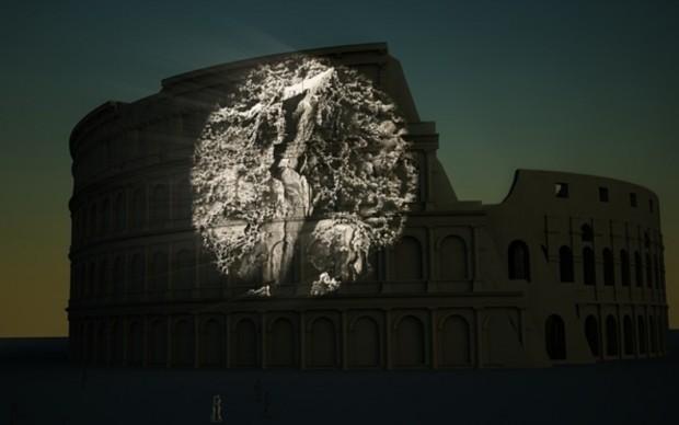 Colosseo-Invincibile-video-installazione-Sabine-Kacunko