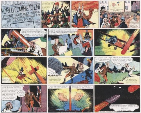 Tavola a fumetti di Flash Gordon