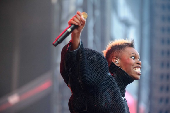 Skin live all'Eurockennes Festival di Belfort, in Francia, nel luglio del 2013 (Photo by SEBASTIEN BOZON/AFP/Getty Images)