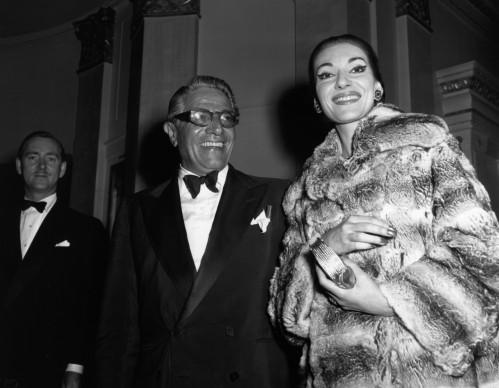 Maria Callas e Aristotele Onassis nel 1959 (Photo by Reg Davis/Express/Getty Images)
