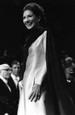 Maria Callas in concerto alla Royal Festival Hall nel novembre del 1973 (Photo by Tim Graham/Evening Standard/Getty Images)