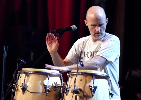 Moby live alla David Lynch Foundation, nell'aprile del 2015 (Photo by Kevin Winter/Getty Images)