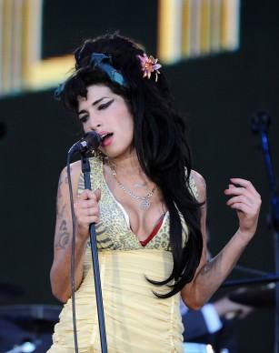 Amy Winehouse live al Rock In Rio del 2008, nei pressi di Madrid (Photo by Carlos Alvarez/Getty Images)