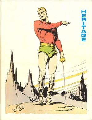 La copertina disegnata da Alex Raymond per una fanzine pubblicata da Doug Murray nel 1972