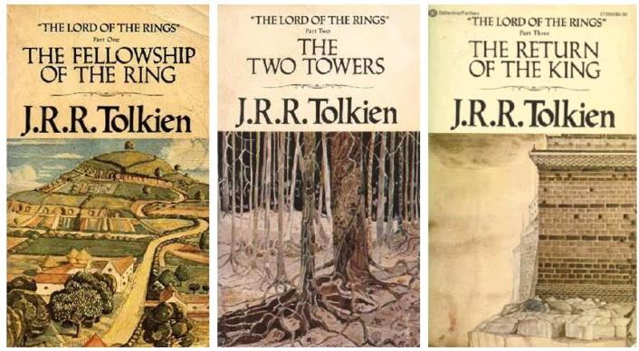 Le cover dei tre volumi de Il Signore degli Anelli