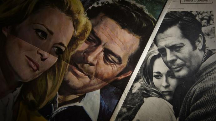 Marcello Mastroianni e Faye Dunaway, che si sono conosciuti sul set del film 'Amanti', del 1968, diretto da Vittorio De Sica