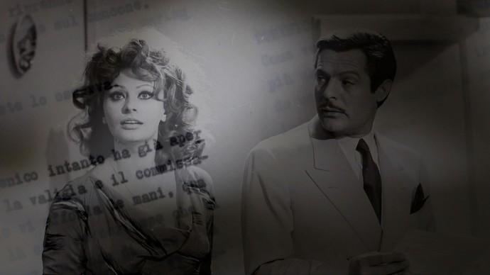 Marcello Mastroianni e Sophia Loren