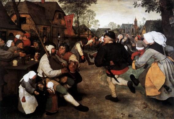 Pieter Brueghel il Vecchio, Danza di contadini, 1568 circa