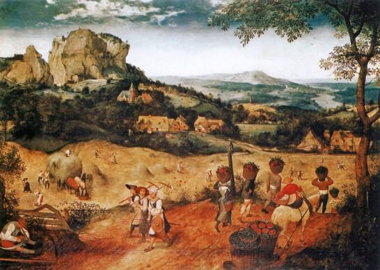 Pieter Brueghel il Vecchio, Fienagione, 1565