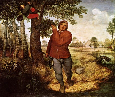 Pieter Brueghel il Vecchio, Ladro di nidi, 1568