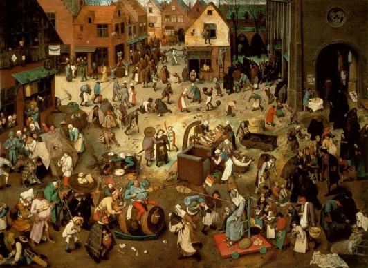 Pieter Brueghel il Vecchio, Lotta tra Carnevale e Quaresima, 1559