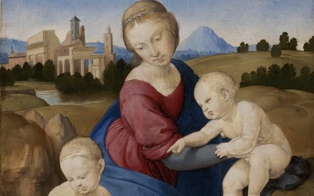 Raffaello Sanzio (Urbino 1483 – Roma 1520) Madonna col Bambino e san Giovannino (Madonna Esterhazy) 1508 ca. Tempera e olio su tavola, 28,5x21,5 cm ©Museum of Fine Arts, Budapest 2015
