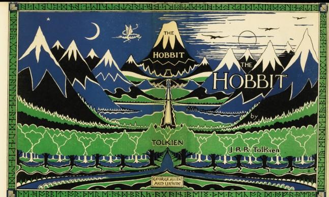 Sovracoperta della prima edizione inglese del romanzo Lo Hobbit