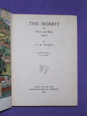 Il frontespizio della prima edizione americana del romanzo Lo Hobbit