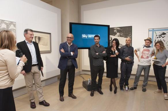 La presentazione del programma 'Muro' di Sky Arte HD alle Gallerie d'Italia di Piazza Scala, a Milano