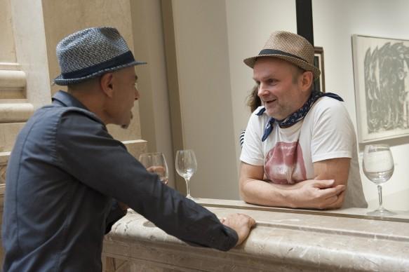David Vecchiato e Jim Avignon durante la presentazione del programma di Sky Arte 'Muro', dedicato alla street art