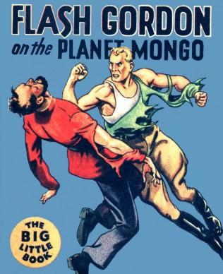 La copertina di Flash Gordon on the Planet Mongo, ristampa in volume delle strisce domenicali realizzate da Alex Raymond tra il 1934 e il 1935