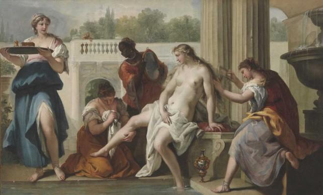 Sebastiano Ricci, Betsabea al bagno, 1724 ca. Olio su tela, 118,5x199 cm © Museum of Fine Arts, Budapest 2015