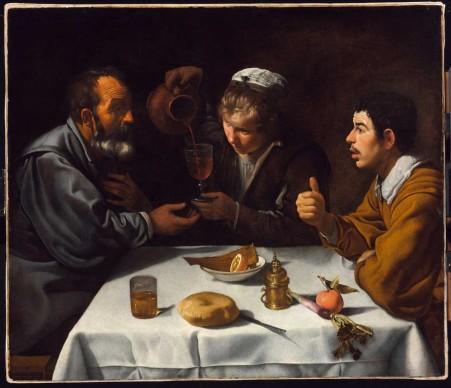 Diego Rodríguez De Silva Y Velázquez, Il pranzo, 1618-1619 ca. Olio su tela, cm 96x112 © Museum of Fine Arts, Budapest 2015