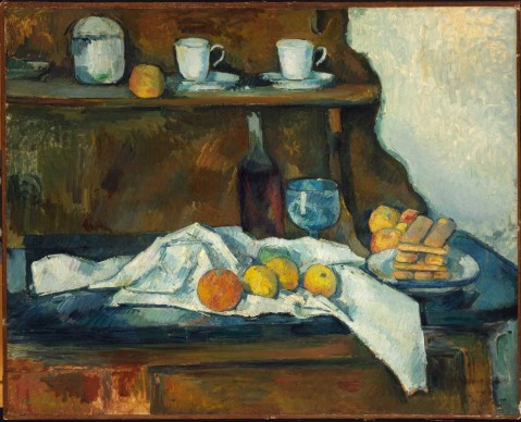 Paul Cézanne, Il Buffet 1877-1879. Olio su tela, cm 65,5x81 © Museum of Fine Arts, Budapest 2015