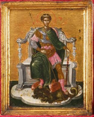 Domenikos Theotokopoulos detto El Greco, San Demetrio (ante 1567), Collezione Privata