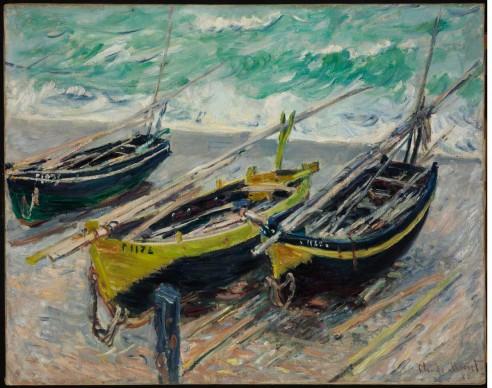 Claude Monet, Tre barche da pesca, 1885. Olio su tela, cm 73x9 2,5 © Museum of Fine Arts, Budapest 2015