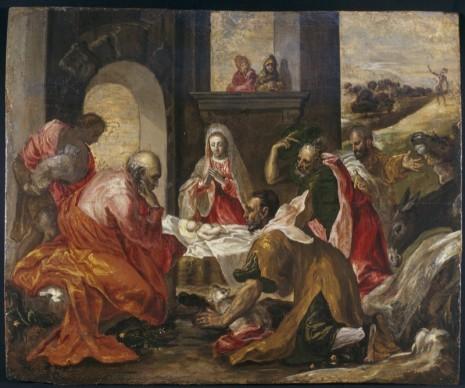 Domenikos Theotokopoulos detto El Greco, Adorazione dei Pastori (1568-1569 ca), J.F. Willumsens Museum, Danimarca