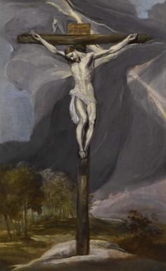 Domenikos Theotokopoulos detto El Greco, Crocifissione (1575-1577 ca), Collezione Privata