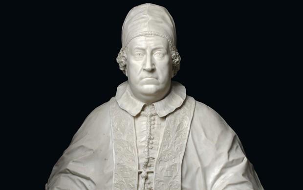 Agostino Cornacchini (Pescia, 1686 – Roma, 1754 circa) Busto di Clemente XI Albani 1712 circa marmo di Carrara, altezza 100 cm