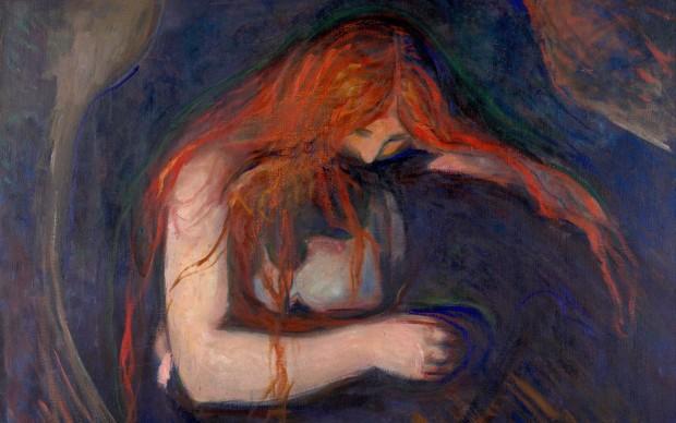 Edvard Munch, Vampiro, 1895, olio su tela