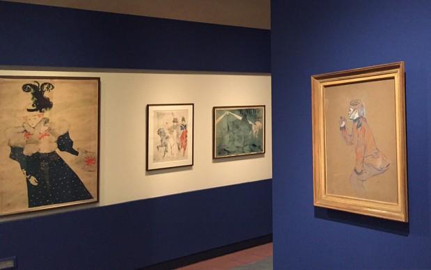 Toulouse-Lautrec. Luci e ombre di Montmartre, veduta della mostra a Palazzo Blu, Pisa, ottobre 2015
