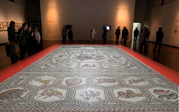 Il Mosaico di Lod esposto alla Fondazione Cini (foto Matteo de Fina)