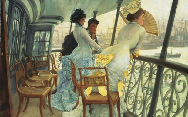 James Tissot, The Gallery of HSM Calcutta (Portsmouth), 1876 ca, Oil