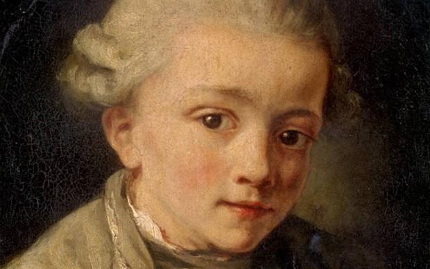 Mozart ritratto a otto anni da Jean Baptise Greuze, 1763-64
