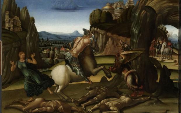 Luca Signorelli, San Giorgio e il drago, 1502-1504. Amsterdam, Rijksmuseum, Vom Rath becquets © Rijksmuseum, Amsterdam