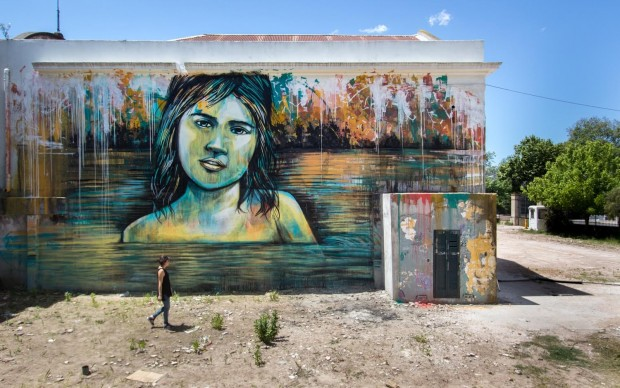 Alice Pasquini, Montevideo, Uruguay 2015, photo Jessica Stewart