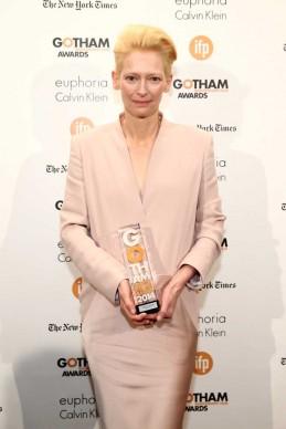 Tilda Swinton alla 24esima edizione del Gotham Independent Film Awards a New York, nel dicembre 2014 (Photo by Neilson Barnard/Getty Images for IFP)