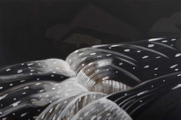 Alex Katz, Black Brook 11, 1990. Olio su tela. Collezione di Peter Blum, NYC © VEGAP, Bilbao, 2015