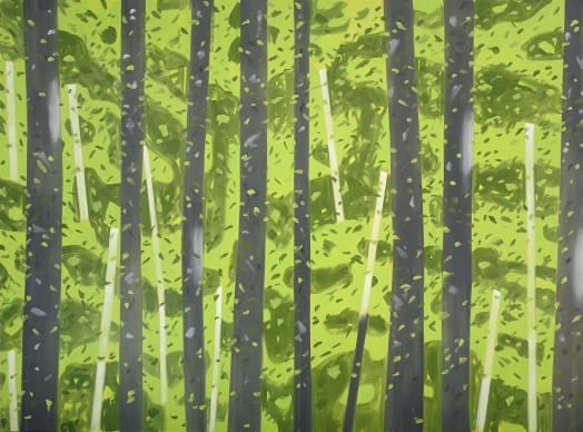 Alex Katz. 10:30 AM, 2007-08. Olio su tela. Collezione dell'artista © VEGAP, Bilbao, 2015