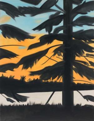 Alex Katz. Sunset 1, 2008. Olio su tela. Collezione dell'artista © VEGAP, Bilbao, 2015