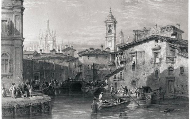 Laghetto di Santo Stefano © Civica raccolta stampe Bertarelli