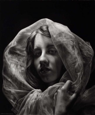 Emanuele Dascanio, Monica - charcoal and graphite by LYRA on paper - 30x25 cm - 2015