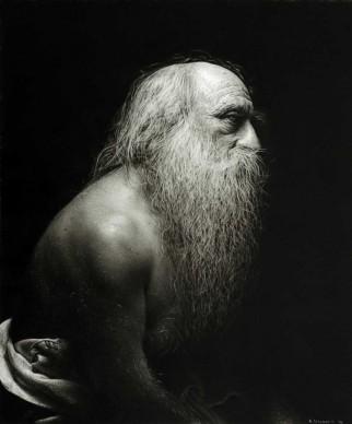 Emanuele Dascanio, Naked for me, Leonardo - Charcoal and graphite on paper - 35x29 cm - 2014