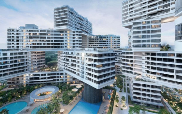 OMA-Buro Ole Scheeren, The Interlace, Singapore