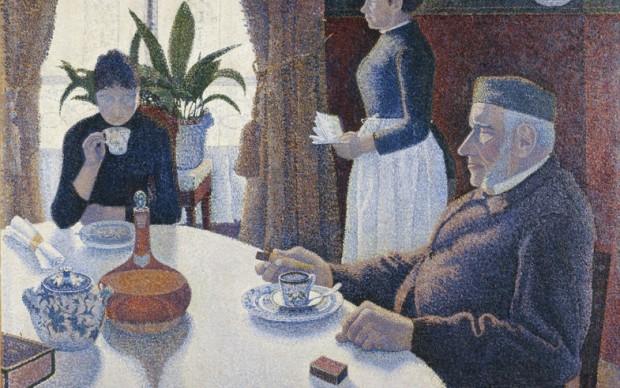 Paul Signac, La sala da pranzo, olio su tela, 1886-1887