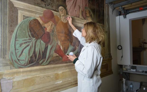 restauro Resurrezione Piero della Francesca PAOLA ILARIA MARIOTTI