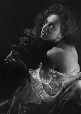 Emanuele Dascanio, Rosa Rùtila - charcoal and graphite on paper - 90 x 65 cm - 2013