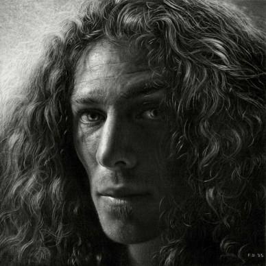 Emanuele Dascanio, Study for apostol's -  charcoal and graphite -20 x 20 cm - 2015