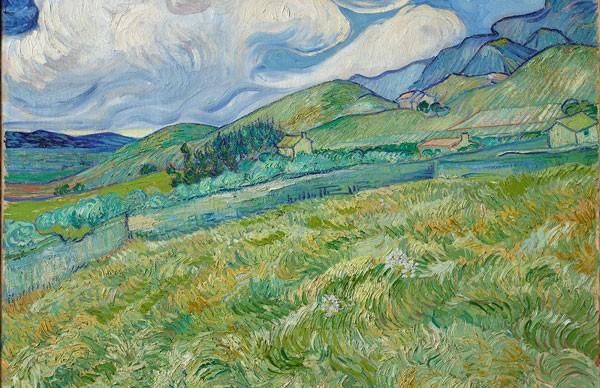 Vincent-van-Gogh,-Landscape-from-Saint-Rémy,-1889.-Oil-on-canvas-70.5-x-88.5cm.-Ny-Carlsberg-Glyptotek,-Copenhagen
