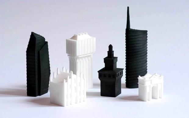 david-chiesa-set scacchi milano grattacieli edifici stampa 3d